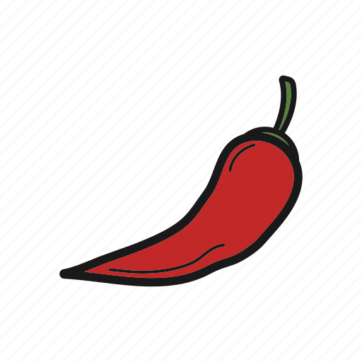 chilli, pepper, vegetable icon