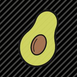 avocado, vegetable icon