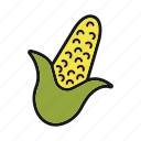 corn, maize, vegetable icon
