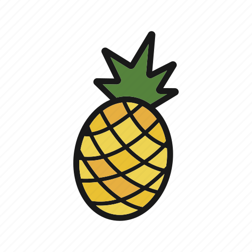 ananas, fruit, pineapple, tropical icon