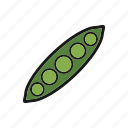 beans, pea, peas, vegetable icon