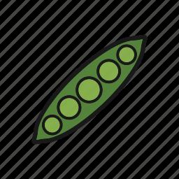 beans, pea, peas, vegetable icon