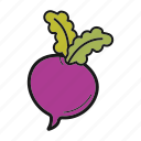 radish, root-crop, turnip, vegetable icon