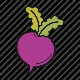 radish, root-crop, turnip, vegetable icon