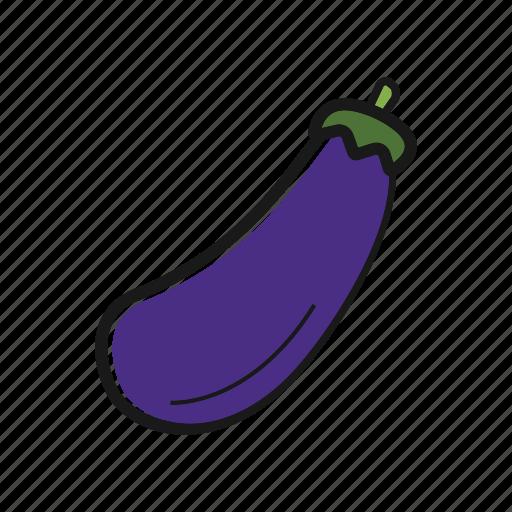 aubergine, brinjal. guinea squash, eggplant, vegetable icon