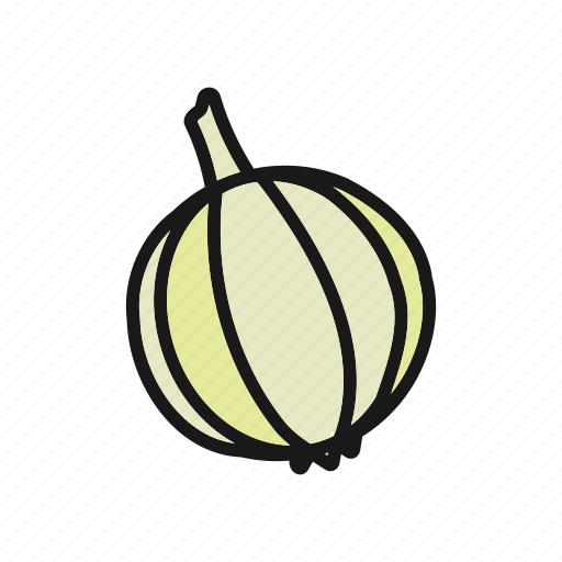 garlic, vegetable icon