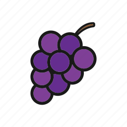 berries, fruit, grapes icon