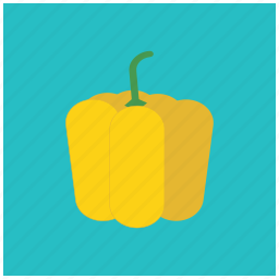 bell, food, fresh, fruit, healthy, pepper, yellow icon
