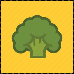 broccoli, fiber, food, fresh, healthy, vegetable icon