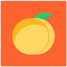 eat, food, fresh, fruit, green, healthy, peach icon