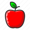 apple, dessert, food, fruit, juicy, sweet, vitamin icon