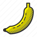 banana, dessert, food, fruit, juicy, sweet, vitamin icon