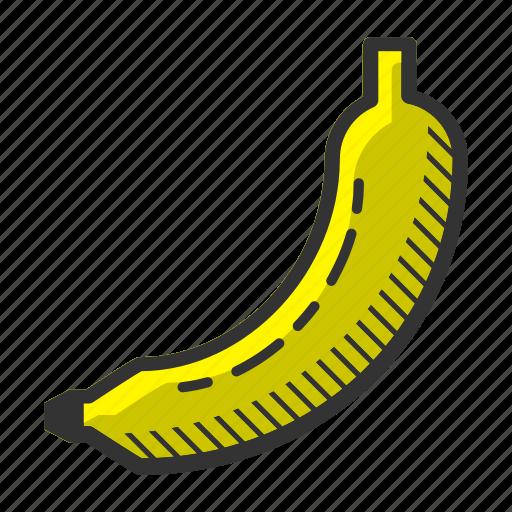 banana, dessert, food, fruit, juicy, sweet, vitamin icon