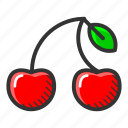 cherry, dessert, food, fruit, healthy, juicy, sweet icon