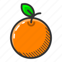 dessert, food, fruit, juicy, orange, sweet, vitamin icon