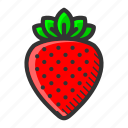 dessert, food, fruit, juicy, strawberry, sweet, vitamin icon