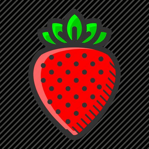 dessert, food, fruit, juicy, strawberry, sweet, vitamin icon