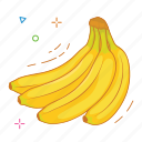 banana, fruit, fruits icon
