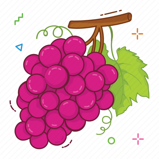 fruit, fruits, grapes icon