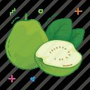 fresh, fruit, fruits, guava, slice fruit, sweet