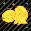 fruit, fruits, star fruit icon