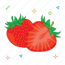 fruit, fruits, strowberry icon