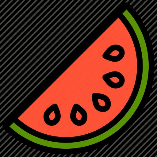 fresh, fruit, fruits, healthy, tropical, watermelon icon