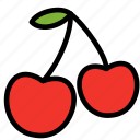 cherry, fresh, fruit, fruits, healthy, tropical icon