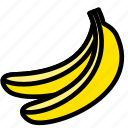 banana, fresh, fruit, fruits, healthy, tropical icon