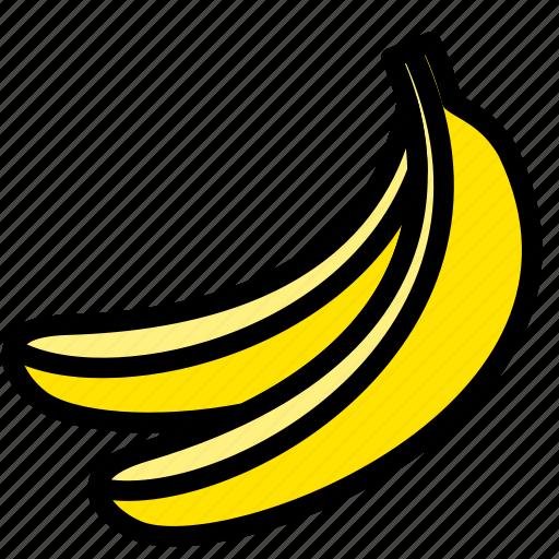 banana, fresh, fruit, fruits, healthy, tropical icon