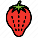 fresh, fruit, fruits, healthy, strawberry, tropical icon