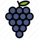 fresh, fruit, fruits, grape, healthy, tropical icon