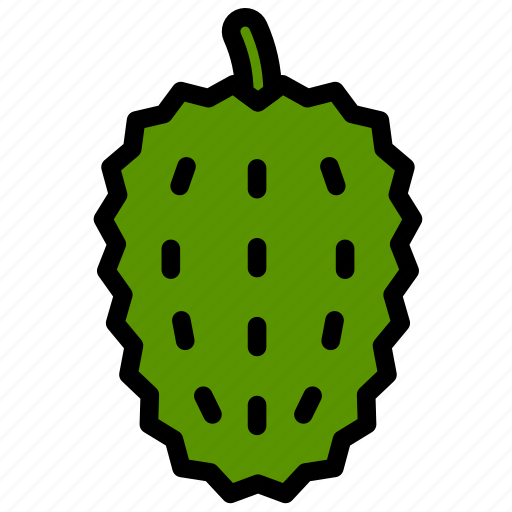 fresh, fruit, fruits, healthy, soursop, tropical icon