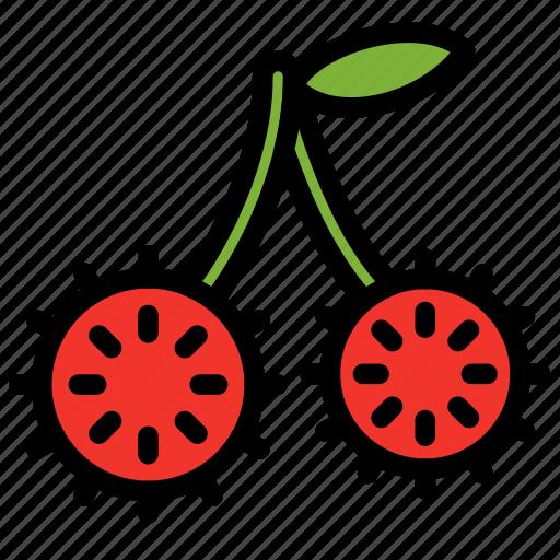 fresh, fruit, fruits, healthy, rambutan, tropical icon