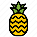 fresh, fruit, fruits, healthy, pineapple, tropical icon