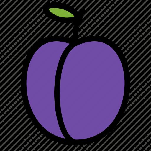 fresh, fruit, fruits, healthy, plum, tropical icon