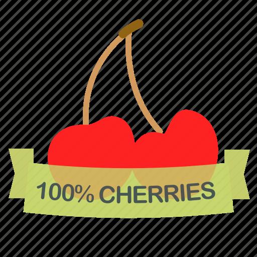 cherries, fruit icon