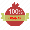 fruit, granat icon