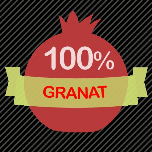 fruit, granat icon