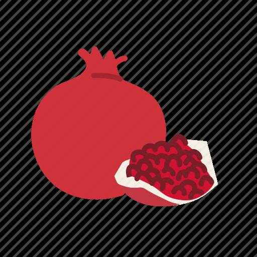 farm, food, fruit, nature, organic, pomegranate icon