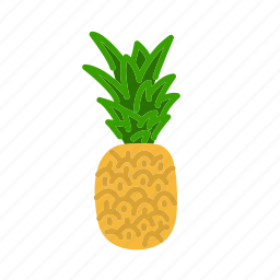 farm, food, fruit, nature, organic, pineapple icon