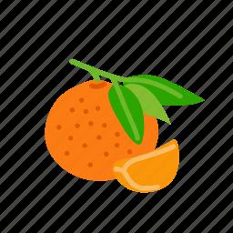 farm, food, fruit, mandarin, nature, organic icon