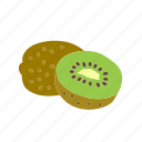 farm, food, fruit, kiwi, nature, organic icon