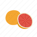 farm, food, fruit, grapefruit, nature, organic icon