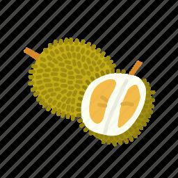 durian, farm, food, fruit, nature, organic icon