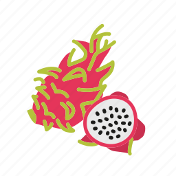 dragon fruit, farm, food, fruit, nature, organic icon