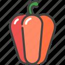 bulgarian, food, healthy, pepper, vegetable, vegetarian icon
