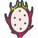 berry, dragonfruit, food, fruit, healthy, pitahaya, vegetarian icon
