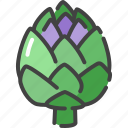 artichoke, food, healthy, vegetable, vegetarian icon