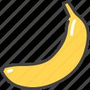 banana, food, fruit, healthy, vegetarian icon